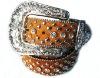 Western cowgirl fashion leather belt