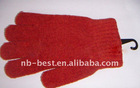 chenille red gloves