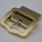 High quality eco-friendly zinc alloy plated light stain golden pin clip men belt buckle