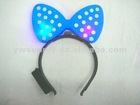 Wholesale!Bowknot light up flashing LED hair clips for Christmas