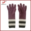 100%cashmere lady stripe glove with 2011the newest design