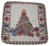 jacquard christmas design cushion