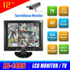 Hot Wide Screen 12 inch cctv lcd monitor with AV / VGA input