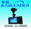 Full HD 720P Car DVR recorder with dual ultra-wide angle lens and big screen