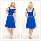 Hot Sexy Royal Blue Cocktail Dress 2012