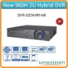 Supply support 4ch IP cameras and 4ch 960H analog cameras 2U 8ch Hybrid DVR, DVR-9204HFI-H4