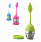 2012 promotion silicone + stainless steel tea bag, tea strainer