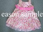Punctiform princess dress for kids