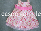 Punctiform princess dress for kids
