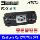 Dual Lens Car Camera with Wide View Angle Len AK-5000 G sensor Car Driving Recorder