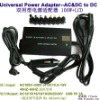 Universal power adapter with LCD display