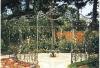 garden building / garden decoration roof / wrought iron gate