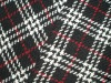 classic plaid check tartan woolen twill woven fabric for women clothes jacket
