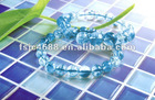 blue color crystal square type pool glass mosaic
