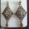 ZE0619 Fashion charming crystal earrings jewelry