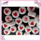 round alphabet beads carving heart shape