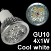 4x1W Cool white GU10 High Power 4W led sopt Lamp 85~220V
