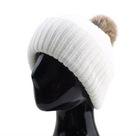 White POMPOM KNIT CAP WARM BEANIES SKULL HATS BERET
