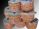 packaging raw material plastic bag on roll