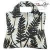 after dark leaf pattern black japanese promotional polyester tote foldable reusable shopping bag
