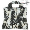 after dark leaf pattern black japanese promotional polyester tote foldable reusable shopping bag