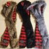 brown bear/black wolf/grey rabbit animal hat long model