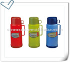 sell 1644 vacuum flask with cups, plastic thermos bottle with glass inner