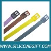 customize colorful fashion silicone belt