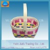 Beautiful & fashion handmade weaving multicolour wooden chip basket