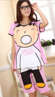 Hot Sale Lovely Baby Printed Short Sleeve Cotton Sleepwear Pink QZ12062015