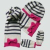 Baby scarf beanie gloves set