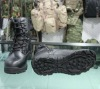 Black Genuine split leather boots military supply