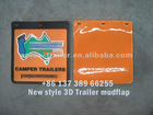 Raised/3D mudflap with customer logo & info