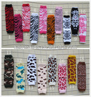 wholesale multicolor high quality soft 100%cotton leg warmers for baby