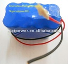7.4V 12AH 2s4p 18650 rechargeable battery pack with PCB