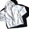 Boy's plain fleece hoodies full zipper