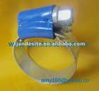 Blue head carbon steel & stainless steel M7 screw inside smooth high strength hose clamp