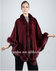 2012 Winter Trimmed Cashmere Cape for women HST803