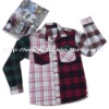 Men's Thick Cotton Asymmetrical Color Check Shirt