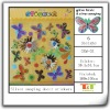GARDEN BUTTERFLY REFLECTIVE PUFFY STICKERS