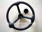 black universal steering wheel pu foam