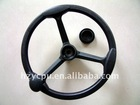 black universal steering wheel pu foam
