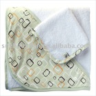 organic cotton/bamboo& cotton hooded baby towel BC-BR1174