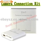 2 in 1 Camera Connection Kit + SD Card Reader for iPad