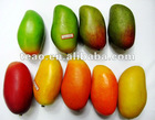 Artificial mango, decorative artificial fruit,imitation fruit,decorative artificial fruit,crystal fruit