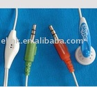 cheapest in-ear 3.5stereo earphone cable with volume control for mobile phone