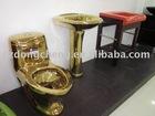Golden toilet sets