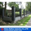 Outdoor blue stone gatepost