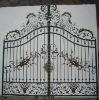 iron gate with plum blossom