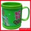Advertising logo 3D Rubber pvc mug cup